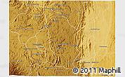 Physical 3D Map of Manjakandriana