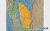 Political Map of Manjakandriana, semi-desaturated