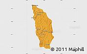 Political Map of Manjakandriana, single color outside