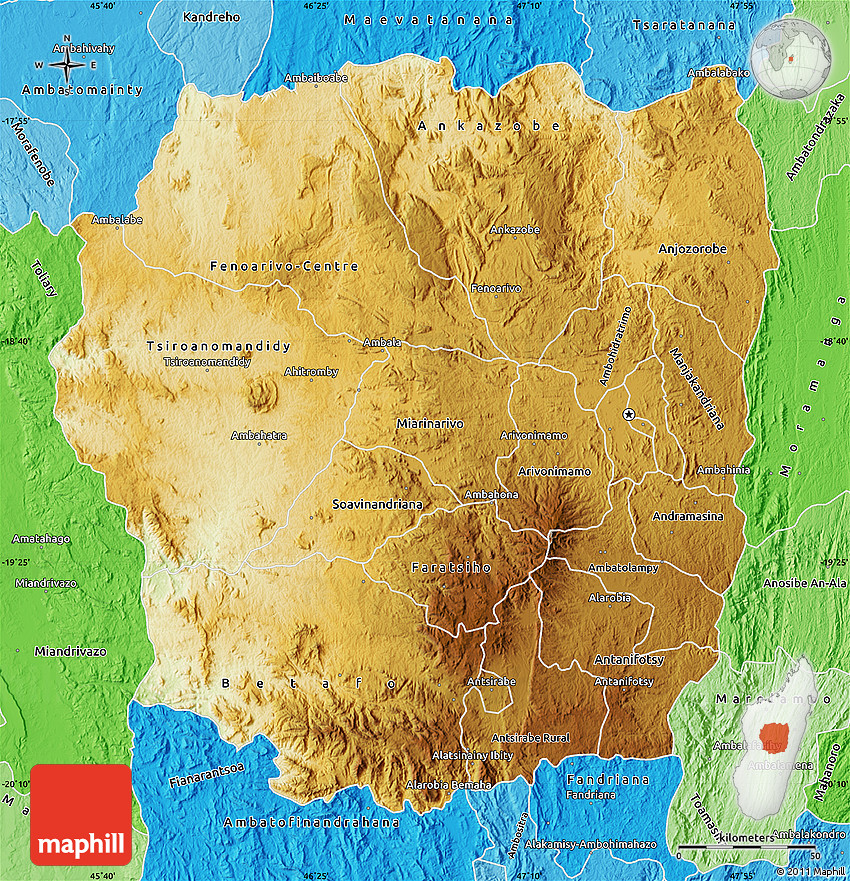 Physical Map of Antananarivo, political shades outside on sherbro island map, mbabane map, monrovia map, niamey map, cairo map, asmara map, kampala map, malabo map, masoala national park map, lilongwe map, pretoria map, casablanca map, harare map, kinshasa map, bujumbura map, maseru map, lagos map, dar es salaam map, johannesburg map, al hasakah map,