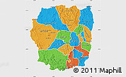 Political Map of Antananarivo, single color outside