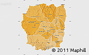 Political Shades Map of Antananarivo, single color outside