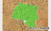 Political Map of Miarinarivo, satellite outside