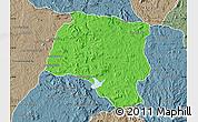 Political Map of Miarinarivo, semi-desaturated