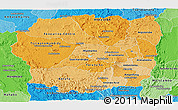 Political Shades Panoramic Map of Antananarivo