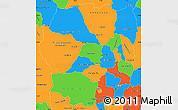 Political Simple Map of Antananarivo
