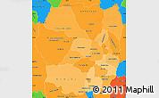 Political Shades Simple Map of Antananarivo, political outside