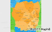 Political Shades Simple Map of Antananarivo
