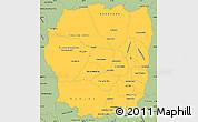 Savanna Style Simple Map of Antananarivo
