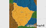 Political Map of Tsiroanomandidy, darken