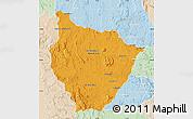 Political Map of Tsiroanomandidy, lighten