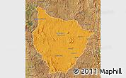 Political Map of Tsiroanomandidy, satellite outside