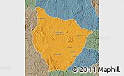 Political Map of Tsiroanomandidy, semi-desaturated