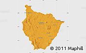 Political Map of Tsiroanomandidy, single color outside