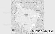 Silver Style Map of Tsiroanomandidy