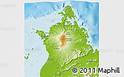 Physical 3D Map of Antsiranana Rural