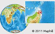 Physical Location Map of Sambava, highlighted parent region