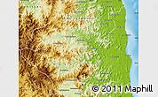 Physical Map of Sambava