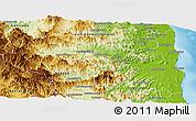 Physical Panoramic Map of Sambava