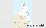 Classic Style Simple Map of Antsiranana