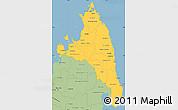 Savanna Style Simple Map of Antsiranana