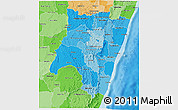 Political Shades 3D Map of Fianarantsoa