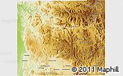 Physical 3D Map of Ambatofinandrahana