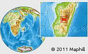 Physical Location Map of Ambatofinandrahana