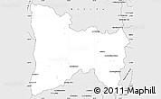 Silver Style Simple Map of Ambatofinandrahana