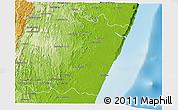 Physical 3D Map of Manakara Sud