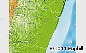 Physical Map of Manakara Sud