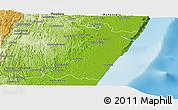 Physical Panoramic Map of Manakara Sud