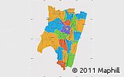 Political Map of Fianarantsoa, cropped outside