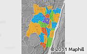 Political Map of Fianarantsoa, desaturated