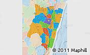 Political Map of Fianarantsoa, lighten