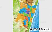 Political Map of Fianarantsoa, physical outside