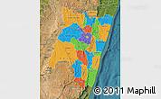 Political Map of Fianarantsoa, satellite outside