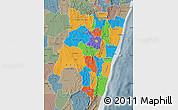 Political Map of Fianarantsoa, semi-desaturated