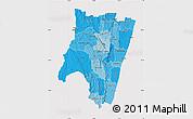 Political Shades Map of Fianarantsoa, cropped outside