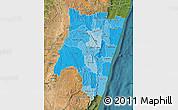 Political Shades Map of Fianarantsoa, satellite outside
