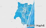 Political Shades Map of Fianarantsoa, single color outside