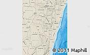 Shaded Relief Map of Fianarantsoa