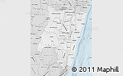 Silver Style Map of Fianarantsoa