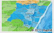 Political Shades Panoramic Map of Fianarantsoa