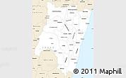 Classic Style Simple Map of Fianarantsoa