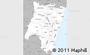 Gray Simple Map of Fianarantsoa