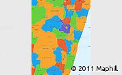Political Simple Map of Fianarantsoa