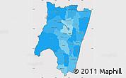 Political Shades Simple Map of Fianarantsoa, cropped outside