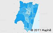Political Shades Simple Map of Fianarantsoa, single color outside