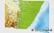 Physical Panoramic Map of Vangaindrano